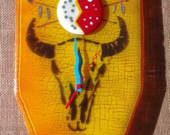 Sioux War Shield Wall Clock
