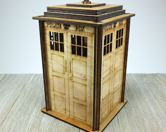 Laser cut  tardis box kit