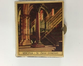 Vintage Match boxes Italian Scenes wooden matches