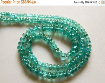 ON SALE 50% Apatite Rondelle Beads, Blue Apatite Beads, Green Apatite, 4mm To 7mm Beads, 18 Inch Strand