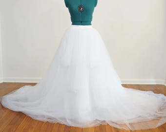 Gorgeous Tulle Wedding Skirt - Full with Long Train