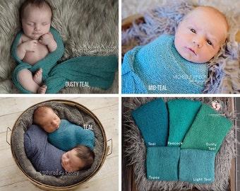 Teal Stretch Knit Wrap,Newborn Wrap,Newborn Photo Prop,Newborn Stretch Wrap,Photography Prop,Baby Wrap,Newborn Photography,Stretch Wrap,Prop