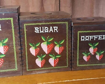 Strawberry Canister Set Styson Wood