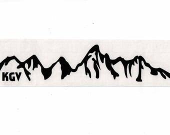 kgv, JACKSON HOLE Wyoming Grand Teton National Park Vinyl Sticker Decal 10 COLORS, Teton's Sticker