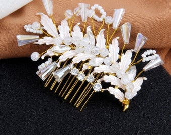 Wedding Hair Comb, Crystal Bridal Hair Comb, Wedding Hair Accessories, Bridal Hairpiece, Hair Jewelry, Wedding Headpiece