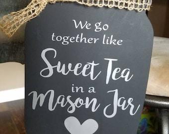 Custom Mason Jar Chalkboard Sign