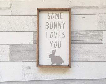 Bunny Sign, Easter Sign, Easter Decor, Farmhouse Sign