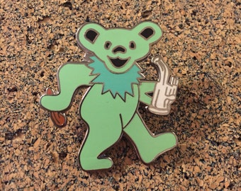 Grateful Dead Stoner Bear Hat Pin