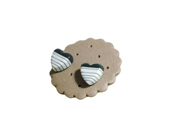 Cool Mickii Porcelain Stud Earring, with chocolate style gift box / By Cookie Factory