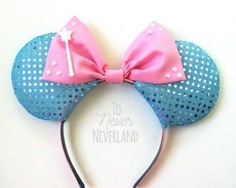 Fairy Godmother Ears, Fairy Godmother Mickey Ears, Cinderella Ears, Fairy Godmother Disney Inspired Ears, Godmother - PRE ORDER 2-3 WEEKS