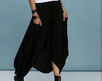 Summer black harem skirt