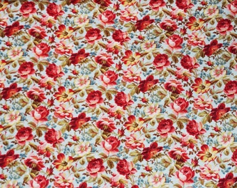 Penelope Large Packed    Rose Cotton Fabric Lakehouse Dry Goods  By the Yard