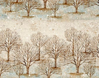Sounds of the Woods Frost  Cotton Quilt Fabric Robert Kaufman By the Yard