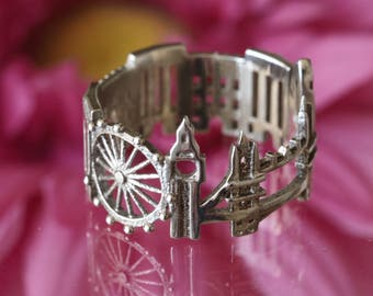 London Cityscape - Skyline Statement Ring - Mothers Day Gift - Gift for Her - Birthday Gift - Shekhtwoman - Best Seller
