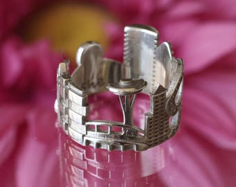 Seattle Cityscape - Skyline Statement Ring - Gift for Her or for Couple - Shekhtwoman