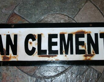 "San Clemente Train stop sign 24"",small"