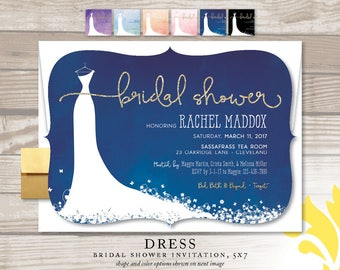 DRESS . bridal shower invitation