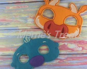 Adventure Felt Mask - Deluxe Felt Mask -- Kids Mask – Costume – Dress-Up -- Halloween -- Pretend Play -- Inspired by Wallykazam!