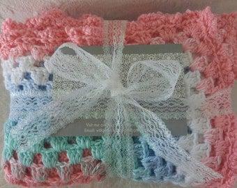 Crochet Baby/Toddler Blanket Cot Blanket Bunny Rug