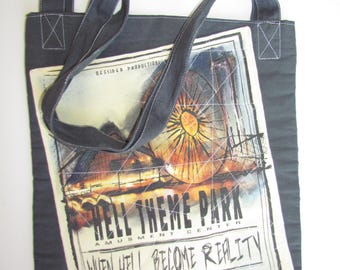 canvas handbag #hell/theme/park