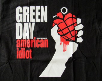 Brand New Green Day AMERICAN IDIOT shirt Small, and XL Available Free Same Day Shipping!