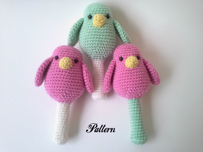 PATTERN: Bird Baby Rattle Crochet Rattle Bird Rattle PDF