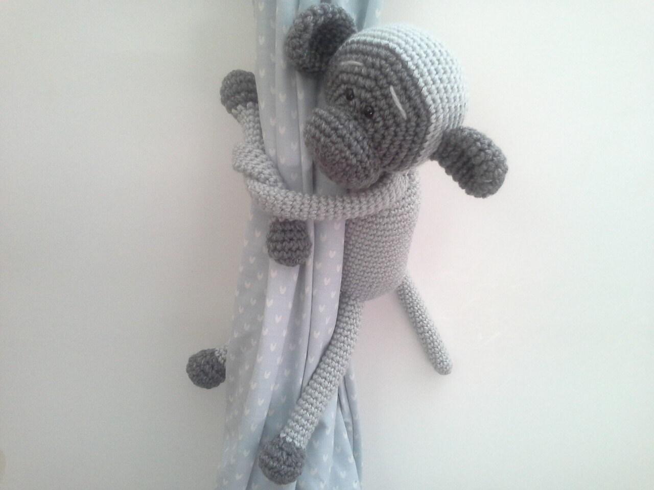 Monkey Curtains Tie Backs Crochet Monkey Amigurumi Custom
