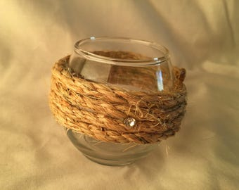 Jute Twine Candle Holder