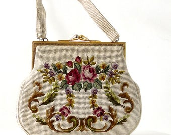 Sac à main tapisserie fleurs