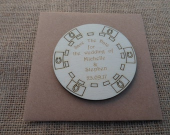Casino Chip Style Save the Date Fridge Magnets - Fun Save The Date Tags