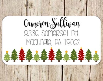 Christmas  return address labels, christmas return address stickers,mailing address labels,mailing address,Return address label,custom label