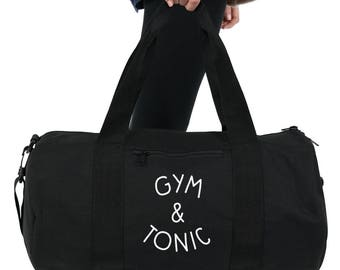 Gym & Tonic Duffel Bag Accessories Gym Sports Yoga Weightlifting Girl Power Spin Funny Slogan