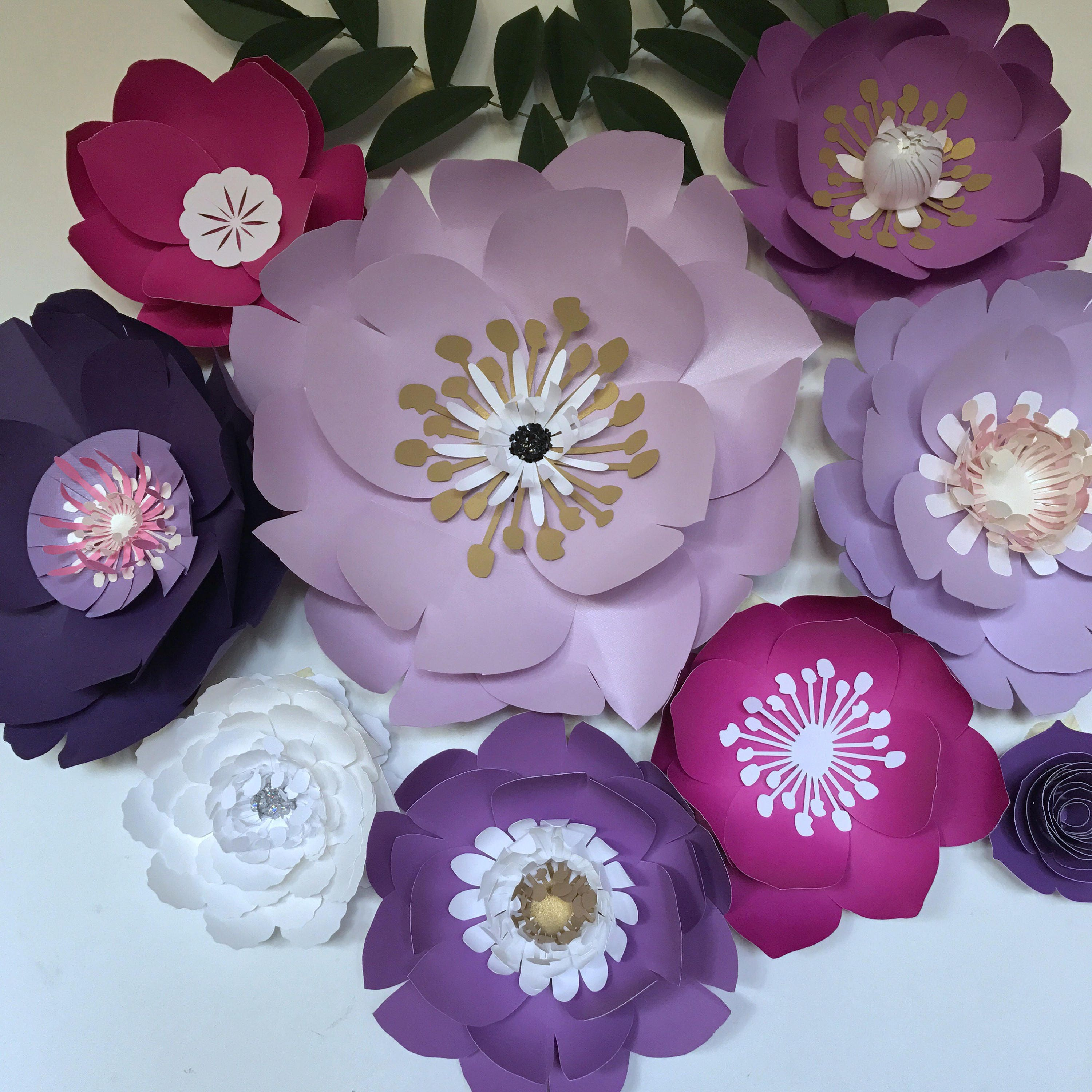 Paper flowers large purplelavender paper flowers wall decor gallery photo gallery photo gallery photo amipublicfo Image collections