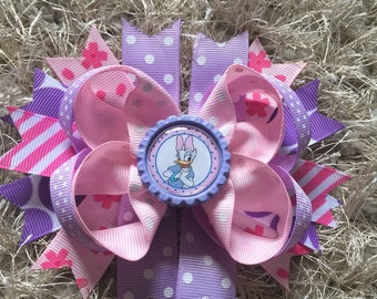 Pink and Lilac Duck Hair Bow