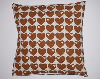 """Vintage Graziela pillow heart 70s 70s cuddly pillow 40 x 40 cm / 15 x 15 """"pillow case"""