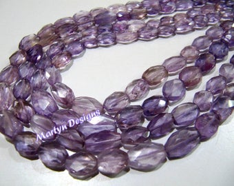 Exclusive Mani Shape Pink Amethyst Beads , Oval Faceted Gemstone Beads , 6x9mm to 9x12mm Size Amethyst Beads , Strand approx 13-14 inch long