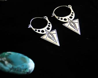 Tribal Earrings - North. Africa Inspiration - Ethnic. - Boho - Travel - Design - Unique - Desert - Tuareg - Nomad - world - design