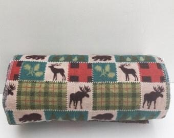 Unpaper Towels / Cloth Napkins / Snapkins / Reusable Paper Towels, Set of 12 Woodland Print