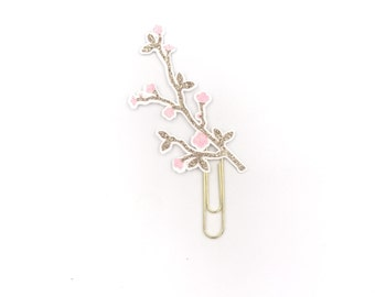 Cherry Blossom Branch Paper Clip