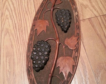 Vintage wall decor grapes and vines
