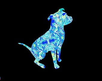 Pit Bull Pitbull Terrier Vinyl Dog Decal! Custom preppy printed vinyl decals perfect for cars, tumblers, laptops, and more!