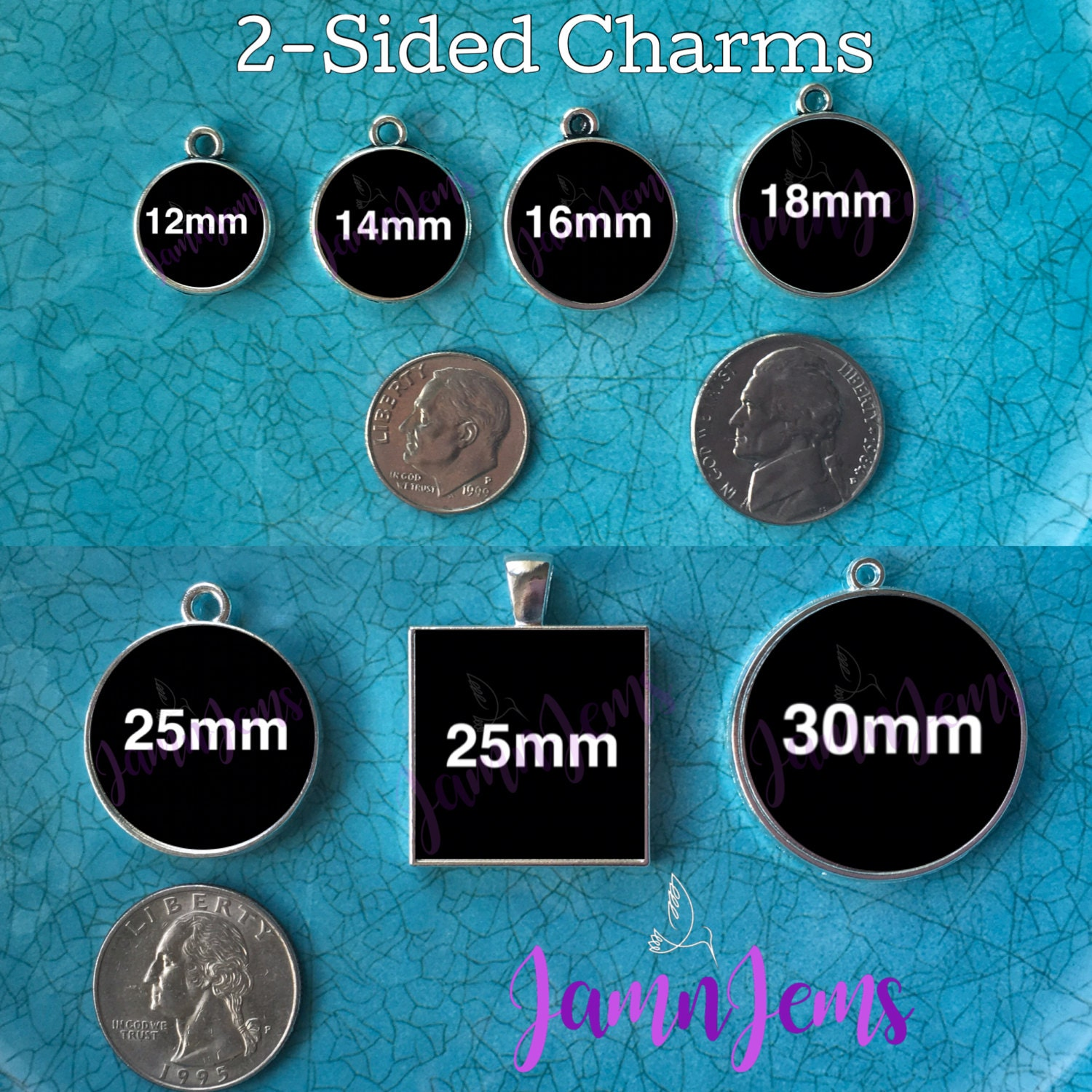 Charms Two sided Picture Charms Jewlery Christmas