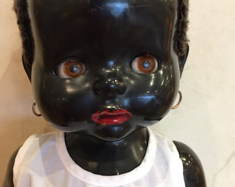 Pedigree England Black Plastic Doll