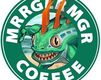 Murloc Coffee Sticker