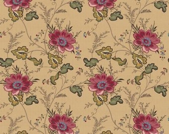 Jane Flower Red  - C4972-RED - The Era of Janine by Sue Daley for Riley Blake - Penny Rose Fabrics