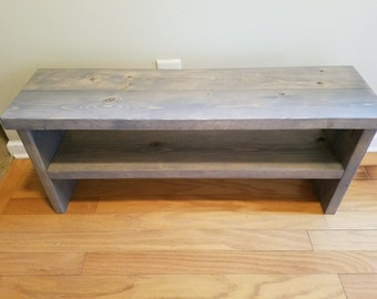 Bench with Shoe Shelf Organizer