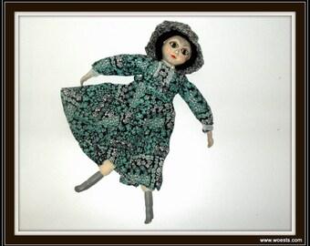 Vintage homemade East European doll