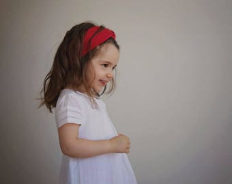 Headband with bow - Red