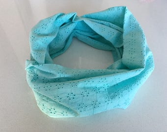 Scarf infinity let eye - turquoise