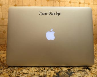 Custom Quote Decal Etsy - Custom vinyl decals laptop
